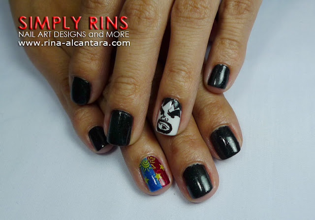 Manny Pacquiao nail art design by Simply Rins