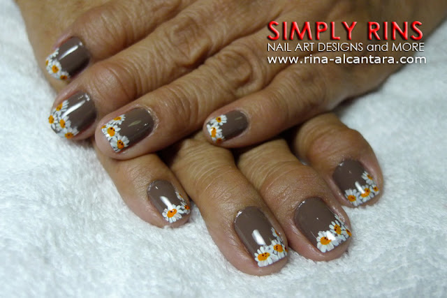 Daisies Nail Art Design by Simply Rins
