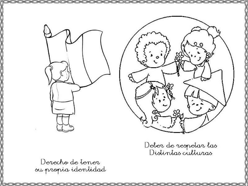 Dibujo De Nacionalidades Para Colorear: Pinto Dibujos: Derecho De Tener Una Nacionalidad
