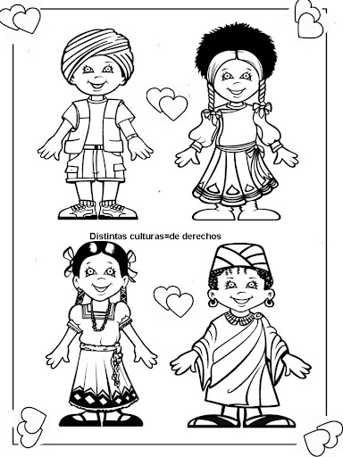 homes multicultural coloring pages - photo#19