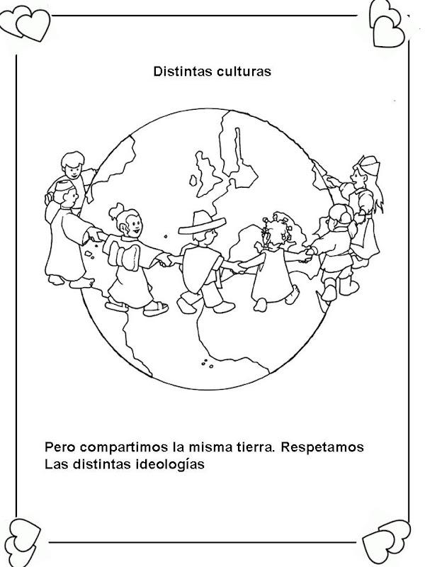 Respetar las culturas para colorear – Dibujos Disney