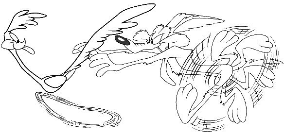 Roadrunner And Coyote Free Coloring Pages Coloring Pages