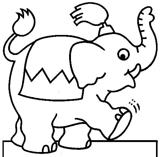 Cartoon baby elephant outline