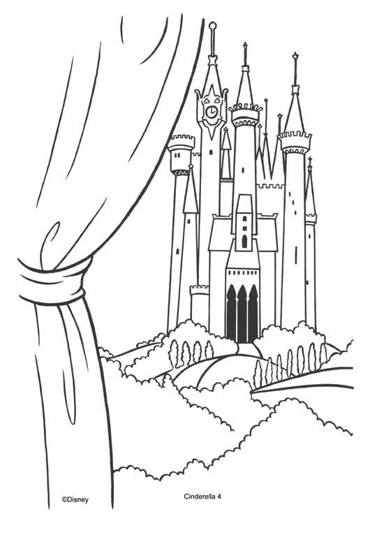 Pinto Dibujos: Castillo de cenicienta para colorear
