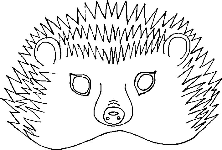 Porcupine mask coloring pages coloring pages for Porcupine coloring page