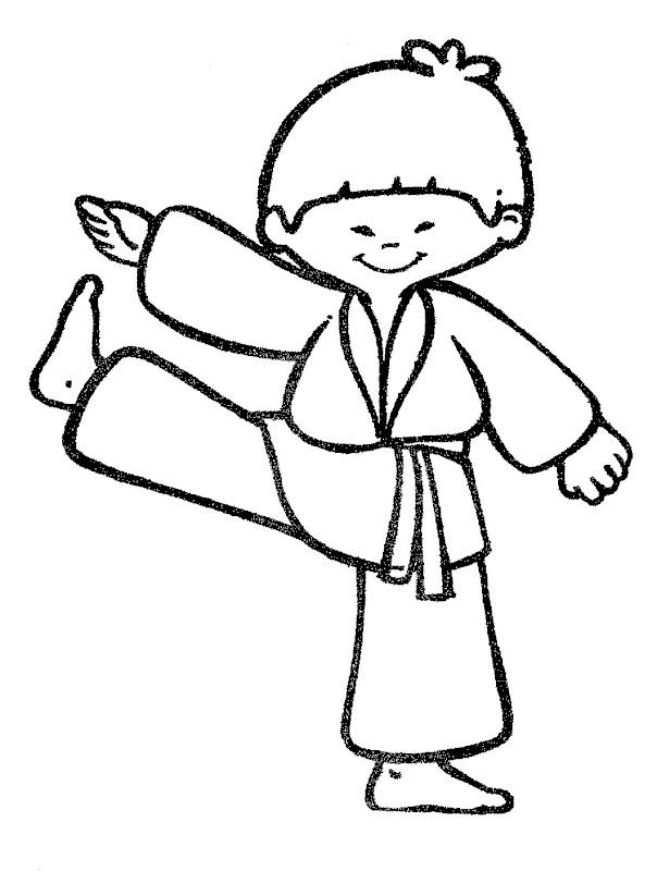 taekwondo coloring pages - pinto dibujos karate para colorear
