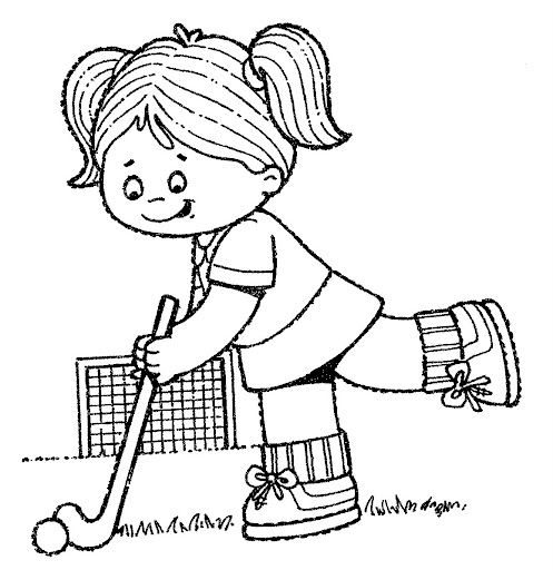 field hockey printable coloring pages - photo#26
