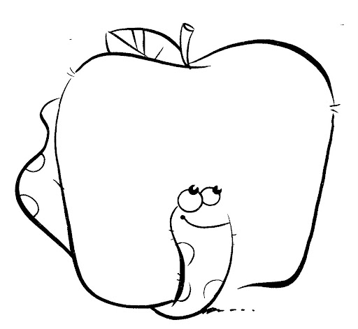 Free Apple Coloring Pages