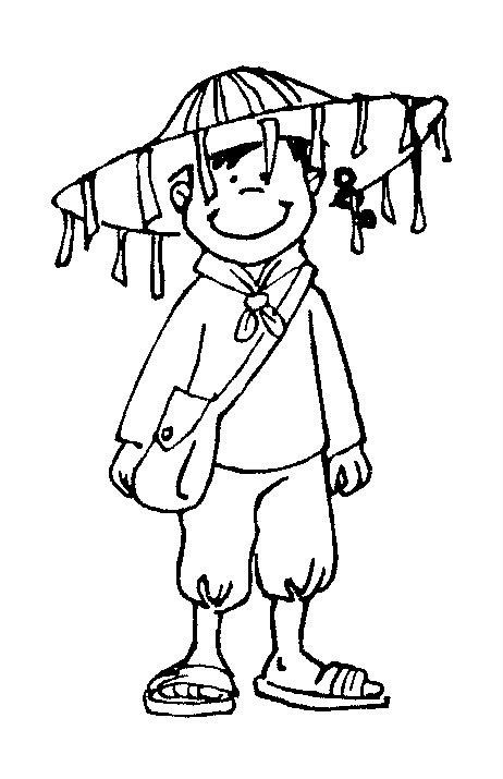 Dibujo de folklore para colorear - Imagui