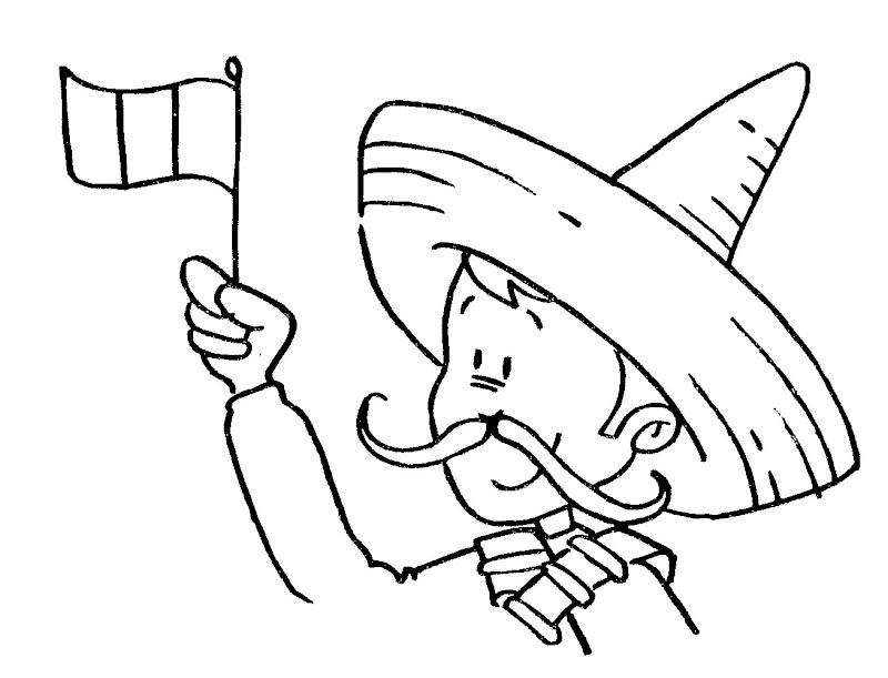 Pinto dibujos revolucionario para desfile de la revoluci n for 16 de septiembre coloring pages