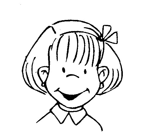 Smiling coloring pages ~ 為孩子們的著色頁: Kid smile - coloring pages