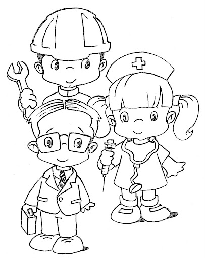 Coloring Pages March 2011 Career Day Coloring Pages