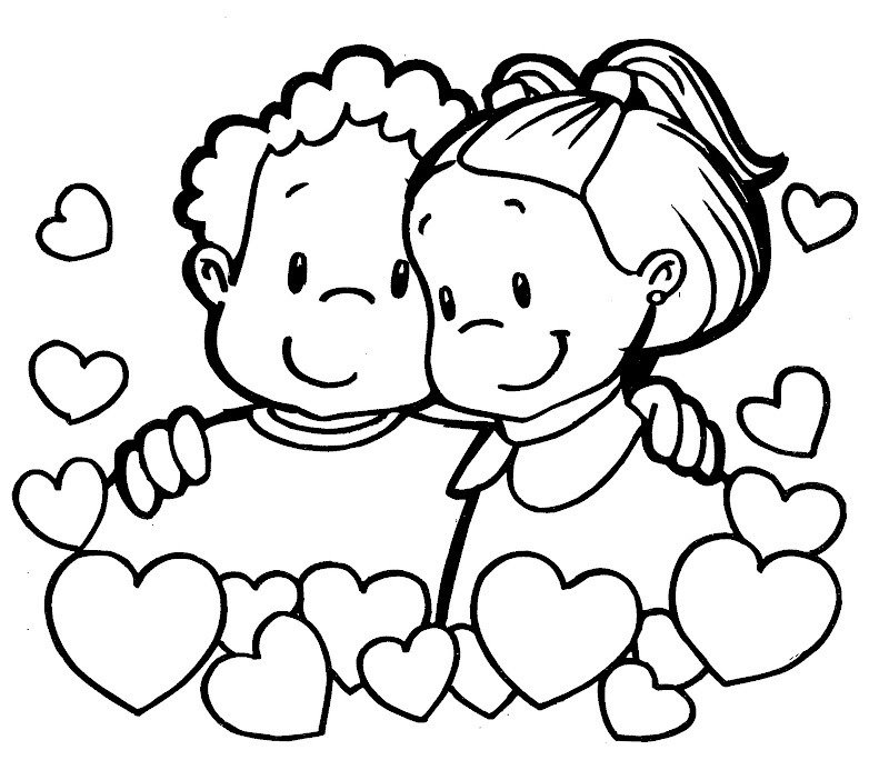 Dibujos Para Colorear Del Amor Y La Amistad