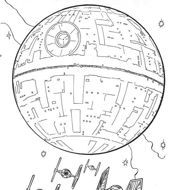Pinto Dibujos Estrella De La Muerte Para Colorear Star Wars