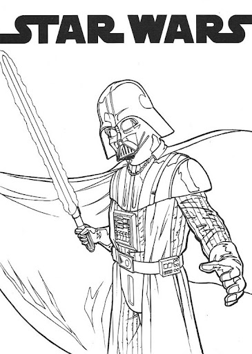 Darth Vader - Star wars free coloring and printables pages ...