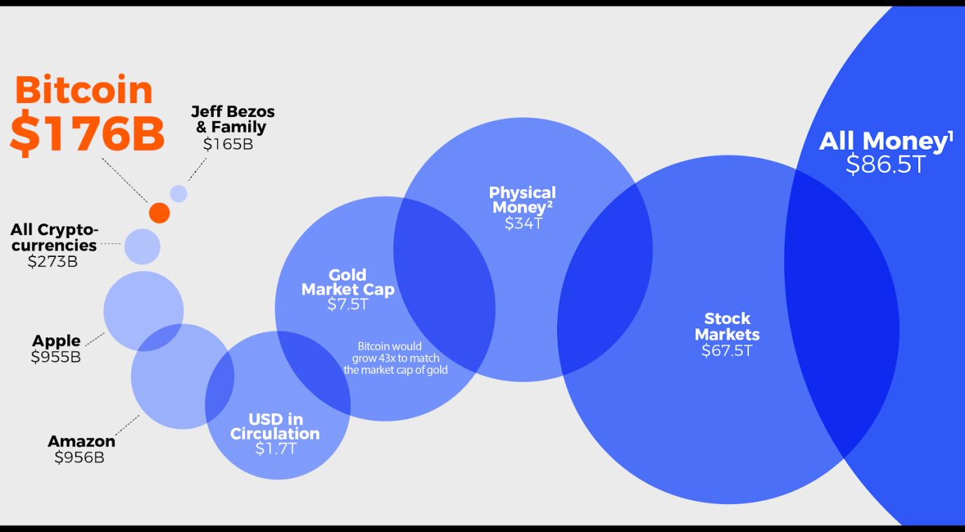 Капитализация рынка криптовалют в перспективе. Источник: BitcoinIRA