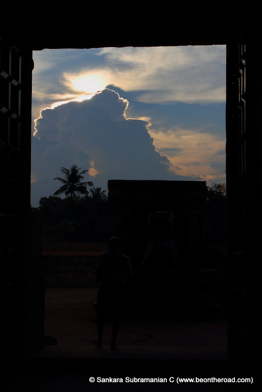 Sunrise moment at Airavateeswara Temple Entrance