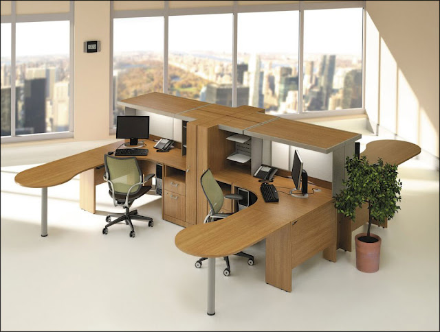 modern modular cherry home office furniture
