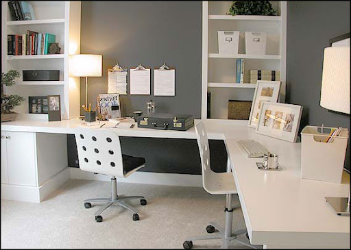 white home office cabinets modern