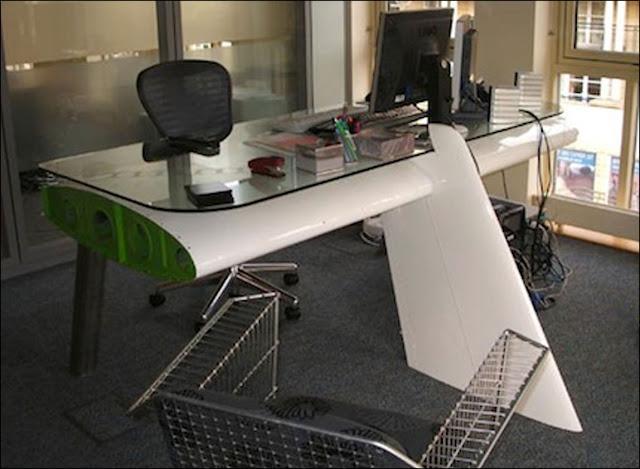 modern working desk dual monitor