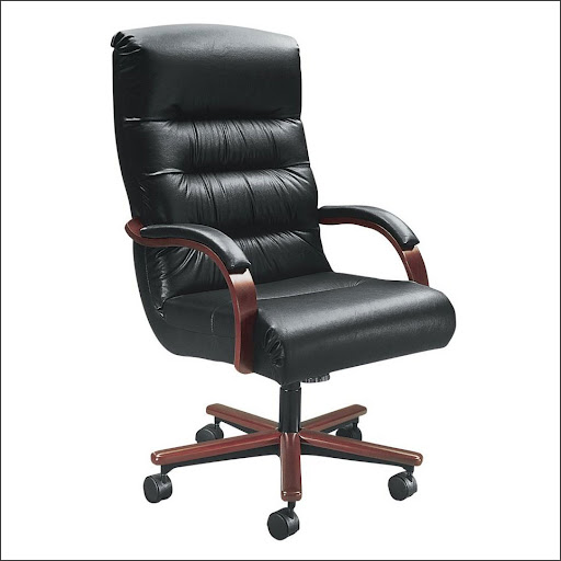 executive black leather office star office chair