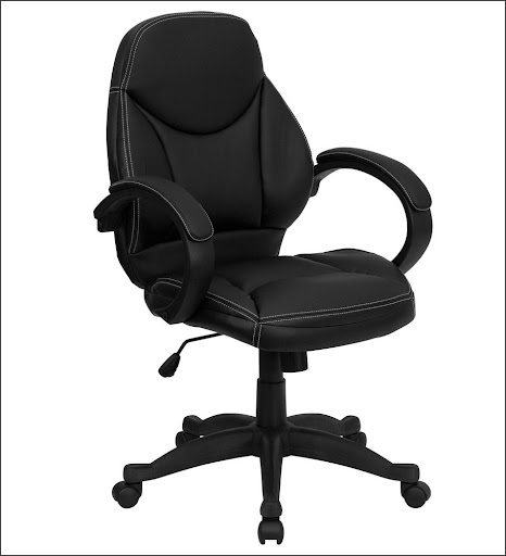 heavy duty office chairs in black leather