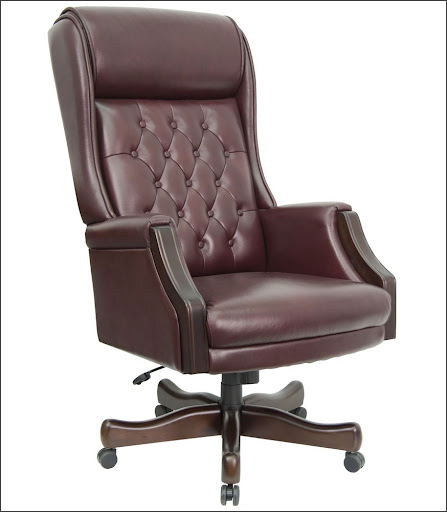 executive leather ergonomic mesh office chair