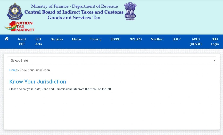 GST Jurisdiction portal