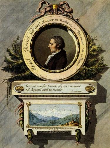 Жак Бальма c Мишелем Паккаром в 1786 году совершили первое восхождение на Монблан