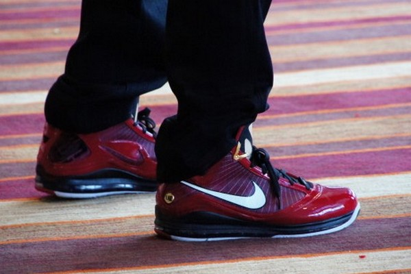 King8217s Feet LeBron James Goes Red on Allstar Media Day Wears Deion LeBron VII PE