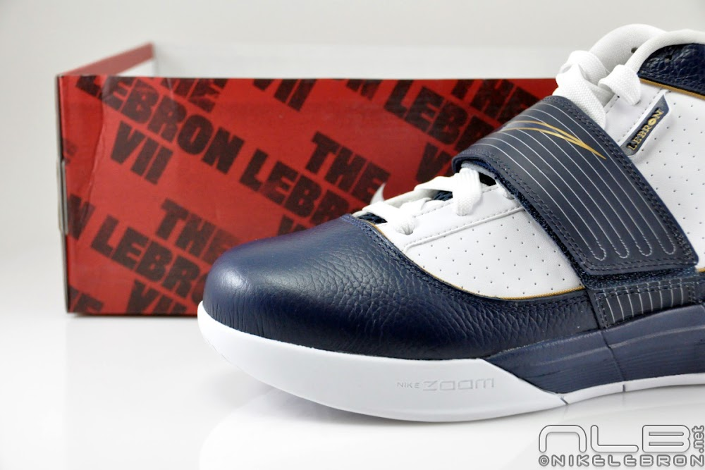 03deb129695cb ... The Showcase Nike Zoom Soldier IV WhiteNavyGold 8220Akron8221 ...