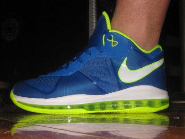 lebron 8 low. first look at nike lebron 8 v2 low 8211 blue amp electric green lebron e
