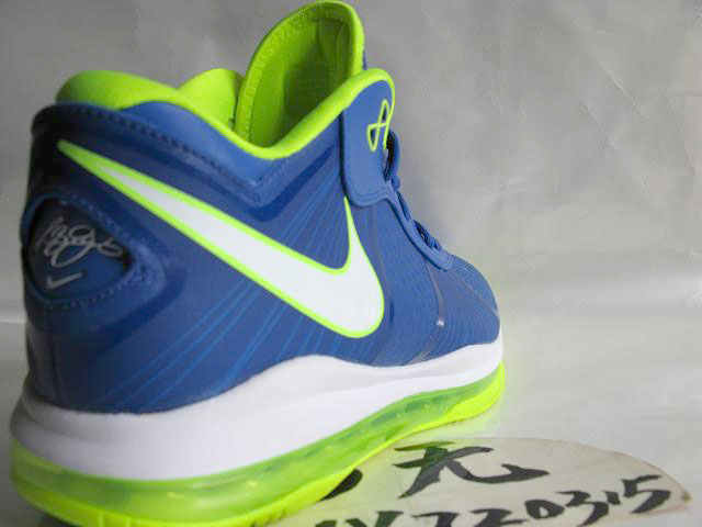 sale retailer 012dc c07ef ... Nike LeBron 8 V2 Low Treasure BlueVolt 8220strikeSpritestrike8221 New  Pics ...