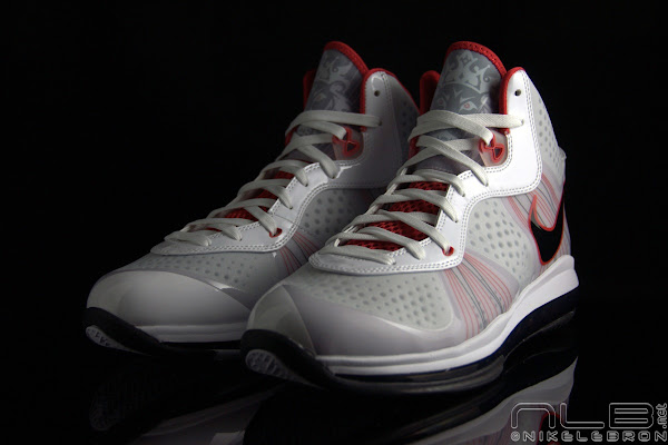 The Showcase Nike LeBron 8 V2 WhiteBlackSport Red