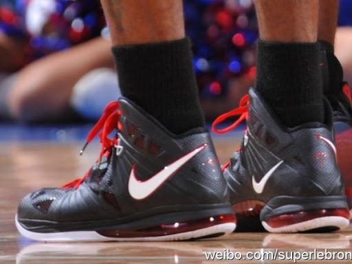 lebron 8 ps james. nike lebron 8 ps black red