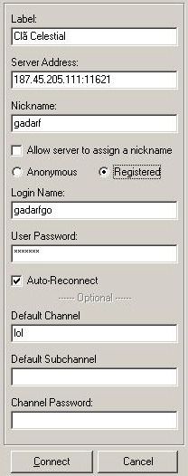 Configurações de servidor do TS.
