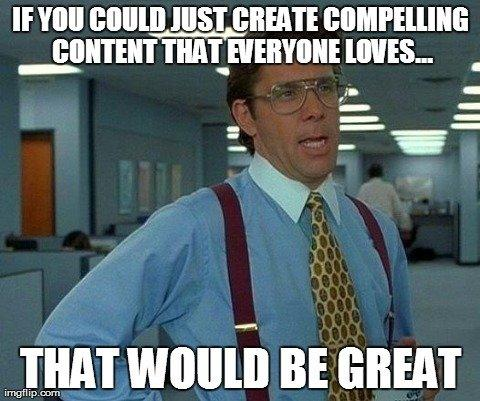 Joke about creating content