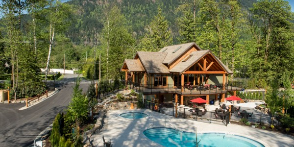 views of The Springs RV Resort in Harrison Hot Springs, BC