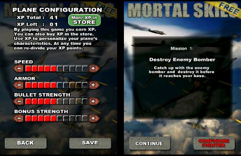 MORTAL SKIES การตั้งค่า Plane Configulation