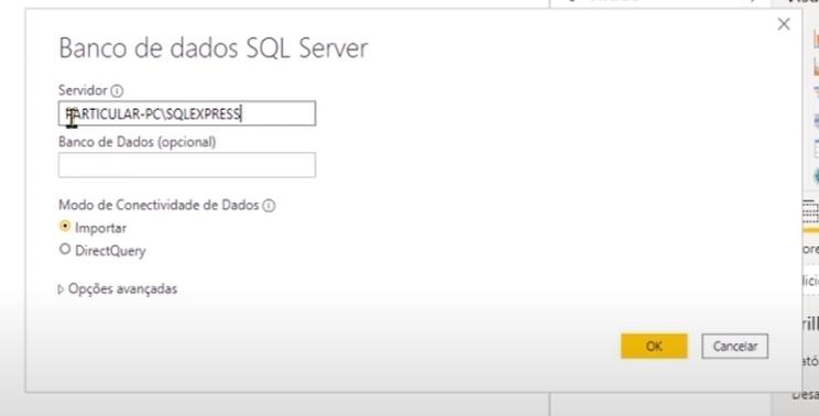 aba de banco de dados SQL Server