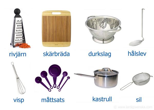 redskap i köket