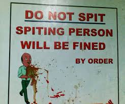 Image result for spitting on the roads india
