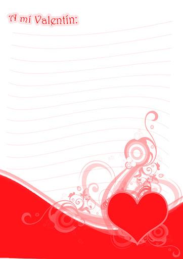 carta de san valentin