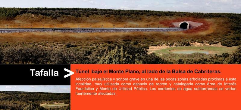 Impacto del TAV en Tafalla (Monte Plano), por AHT Gelditu Elkarlana