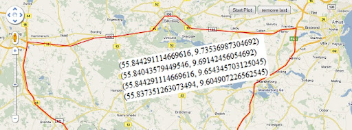 This small tool aids you in getting the coordinates for your polyline or polygon