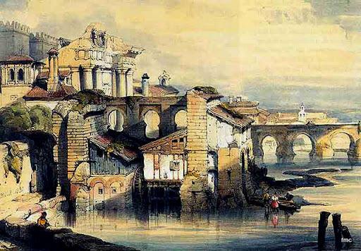 Resultado de imagen de Albolafia siglo XIX. Grabado de David Roberts, 1832.