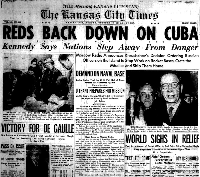 Old Newspapers: Cuban Missile Crisis