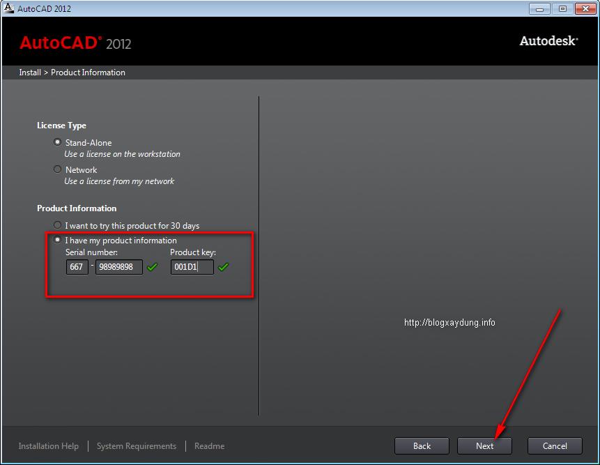 8 Hướng dẫn cài đặt và Active AutoCAD 2012   Full bằng hình ảnh.