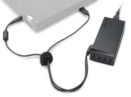 Lenovo 65W AC Adapter with  Extra USB Ports