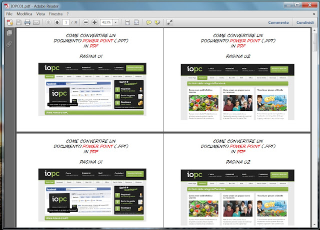 Come convertire un documento power point PPT in PDF